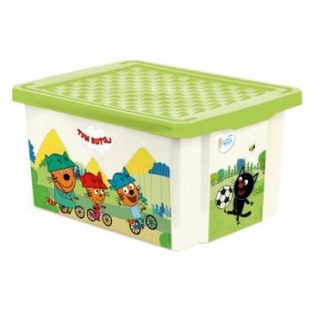 Ящик для игрушек Little Angel Три кота Забава 17л