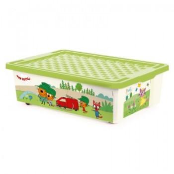 Ящик для игрушек Little Angel Три кота Забава 30л