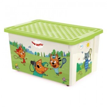 Ящик для игрушек Little Angel Три кота Забава 57л