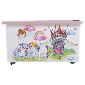 Ящик для игрушек Little Angel Сказочная принцесса 57л