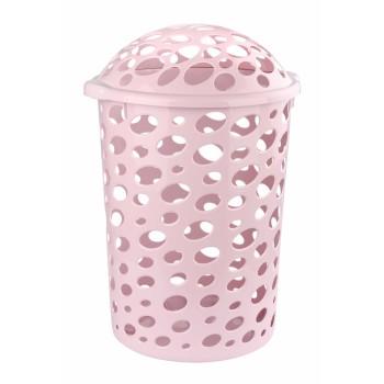 Корзина Сорренто с крышкой розовая
