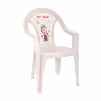 Пластиковый детский стульчик Маша и Медведь