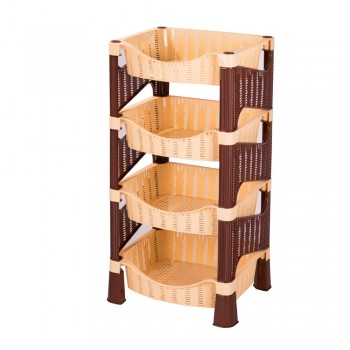 Пластиковая этажерка Плетёнка ЭльфПласт 442