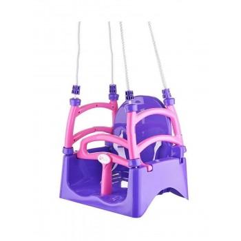 Детские качели подвесные Doloni фиолетовые