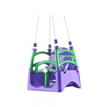 Детские качели подвесные Doloni фиолетовый/салатовый