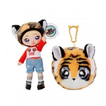 Мягкая кукла Na Na Na Surprise Си Джей Каддлс тигр