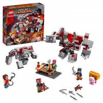Конструктор Lego Minecraft Битва за красную пыль 21163