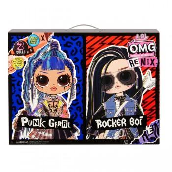 Набор из 2 кукол Lol OMG Remix Rocker Boi и Punk Grrrl