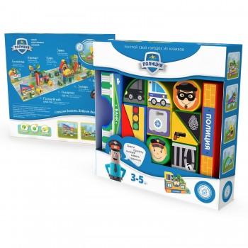 Пластиковые кубики Magneticus Полиция