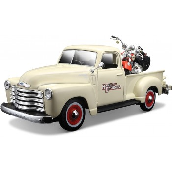 Коллекционная машинка Шевроле 3100 Пикап 1950 с мотоциклом 1:24 Maisto 32194