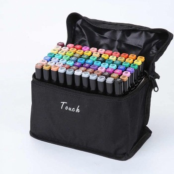 Маркеры - фломастеры для скетчинга Touch, 60 цветов (двухсторонние)