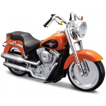Модель мотоцикла Harley Davidson FLSTFI Fat Boy Maisto 81631 (свет, звук)