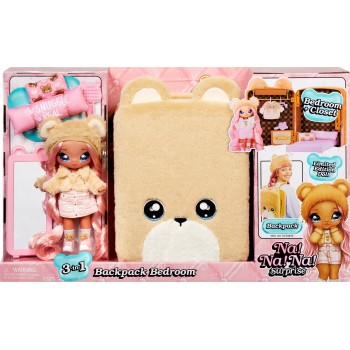 Рюкзак-спальня Na Na Na Backpack Bedroom с куклой Сара Снагглс (мишка Тэдди)
