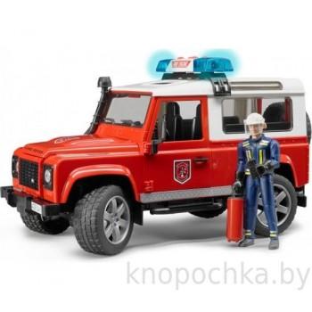 Игрушка Брудер Внедорожник Land Rover Defender Station Wagon Пожарная с фигуркой Bruder 02596