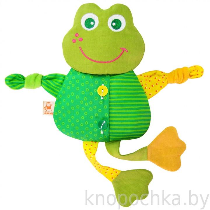 Игрушка грелка с вишневыми косточками Лягушка