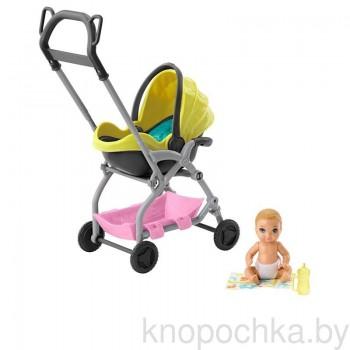 Набор Barbie Няня Коляска с малышом GFC18