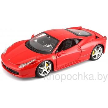 Коллекционная машинка Ferrari 458 Italia Bburago 1:24