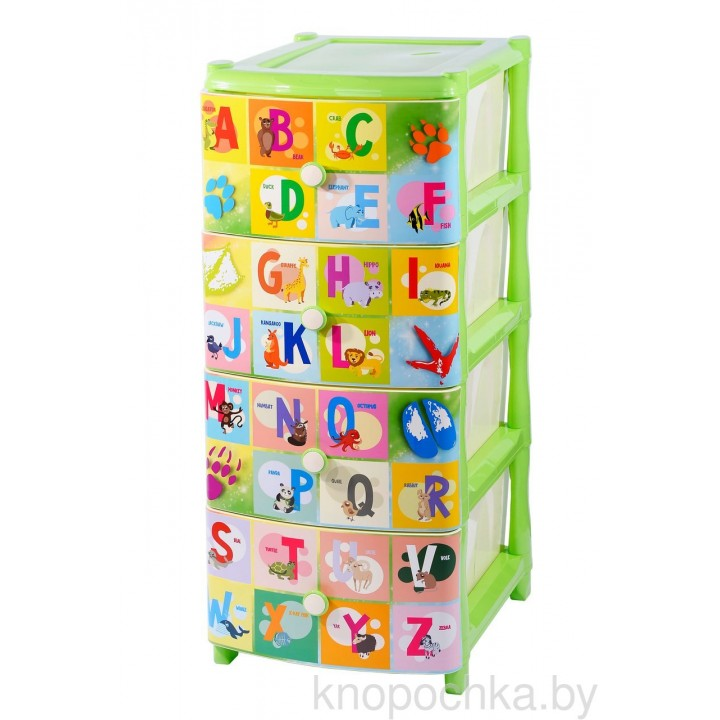Комод детский пластиковый Английский Алфавит ЭльфПласт
