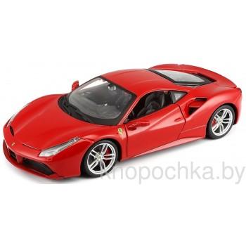 Коллекционная машинка Ferrari 488 GTB Bburago 1:24