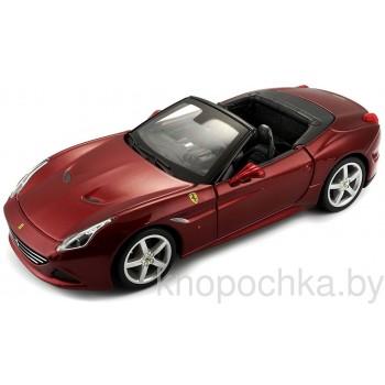 Коллекционная машинка Ferrari California T (кабриолет с открытым верхом) Bburago 1:24