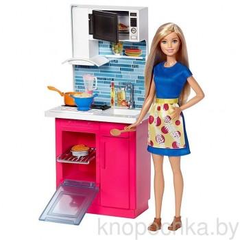 Игровой набор Barbie Кухня с куклой Барби DVX54