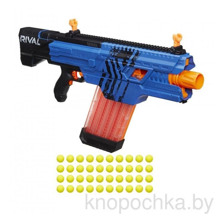 Бластер Нерф Райвал Хаус Khaos MXVI-4000 Nerf B3858 (синий)