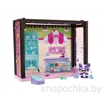 Стильный мини-набор Магазинчик сладостей с фигуркой Littlest Pet Shop