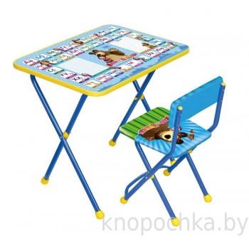 Детский столик и стульчик Ника КП2 Азбука2 Маша и Медведь