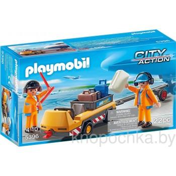 Конструктор Playmobil 5396 Аэропорт: Буксир самолета с командой