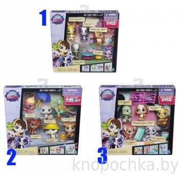 Игровой набор 5 зверюшек с аксессуарами Littlest Pet Shop