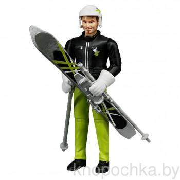 Фигурка лыжника с аксессуарами Брудер 60040