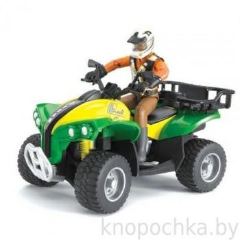 Игрушка Брудер Квадроцикл с гонщиком Bruder 63000