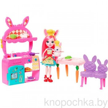 Набор Энчантималс Кухня с куклой Бри Кролик