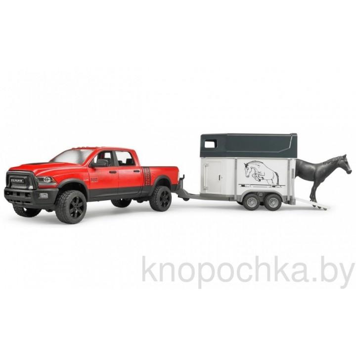 Пикап RAM 2500 Power Wagon с коневозкой и лошадью Bruder 02501
