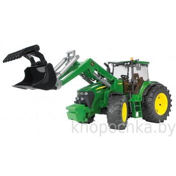 Игрушка Брудер Трактор John Deere 7930 с погрузчиком Bruder 03051