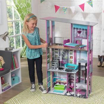 Кукольный домик с мебелью Гламур Kidkraft 65192