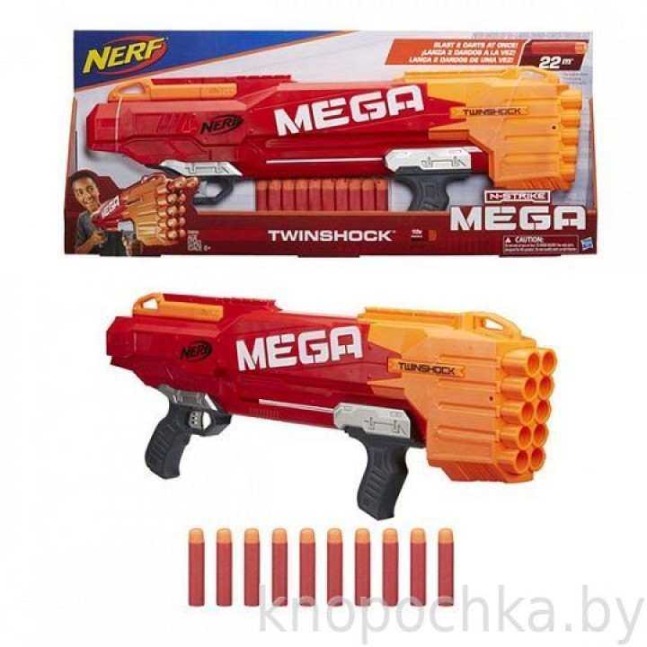 Бластер NERF Мега Твиншок Hasbro