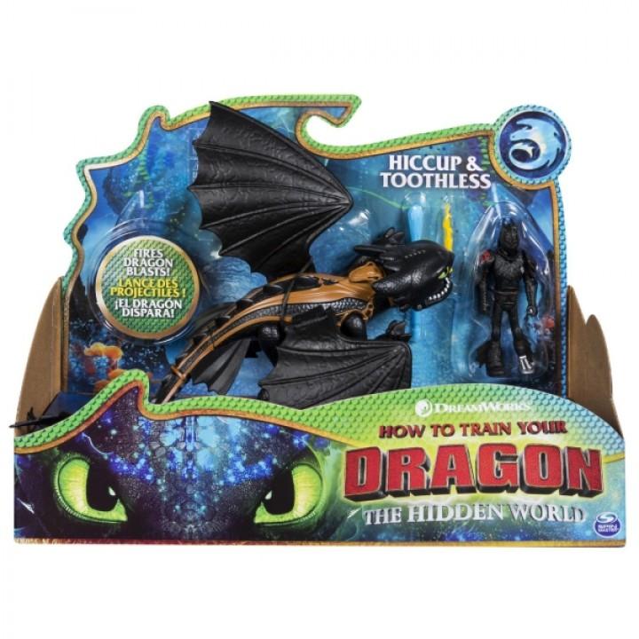 Дракон Беззубик и фигурка Иккинга Как приручить дракона