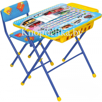 Набор детской мебели Ника КУ2П с большим пеналом Большие гонки