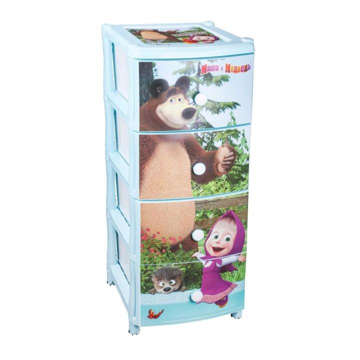 Комод детский пластиковый Маша и медведь