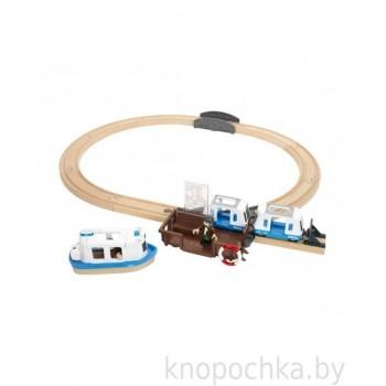Железная дорога с паромом и поездом BRIO 33725 (свет, звук)