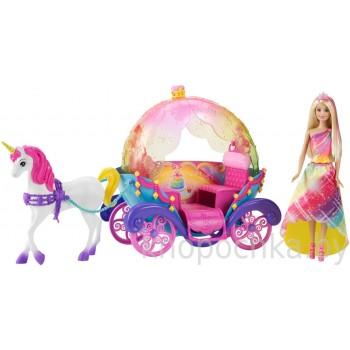Игровой набор Барби Dreamtopia Радужная карета