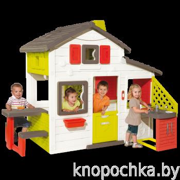 Детский домик для друзей с кухней и водой Smoby 810201