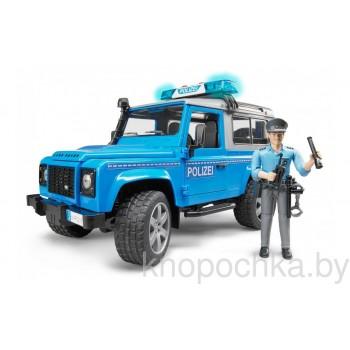 Игрушка Брудер Внедорожник Land Rover Defender Bruder 02597 Полиция