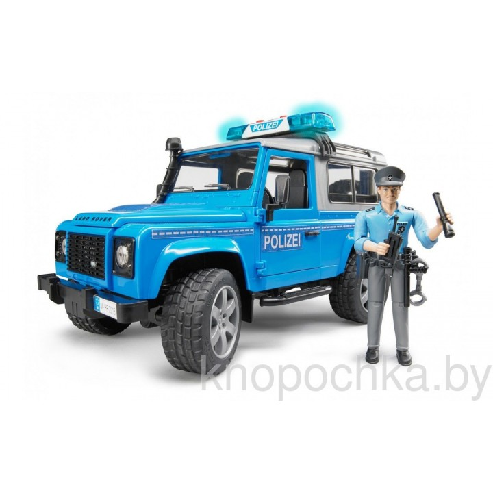 Внедорожник Land Rover Defender Брудер 02597 Полиция