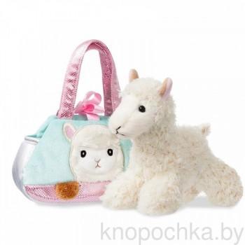 Мягкая игрушка Aurora Альпака в сумочке, 20 см