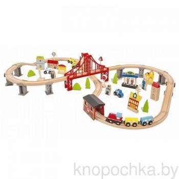 Деревянная железная дорога Wooden Toys (70 предметов)