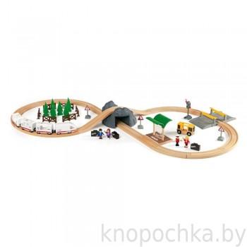 Набор железной дороги с пассажирским экспрессом на батарейках и туннелем BRIO 33164