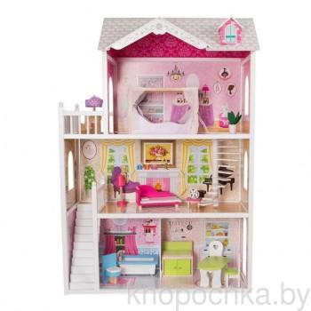 Кукольный домик с мебелью Eco Toys California 4107WOG