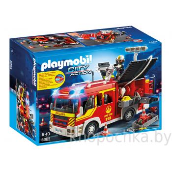 Пожарная машина с лестницей свет и звук Playmobil 5363